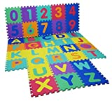 Kids Alphabet Numbers Puzzle Edges Play Mat Baby shatter-resistant crawling mat