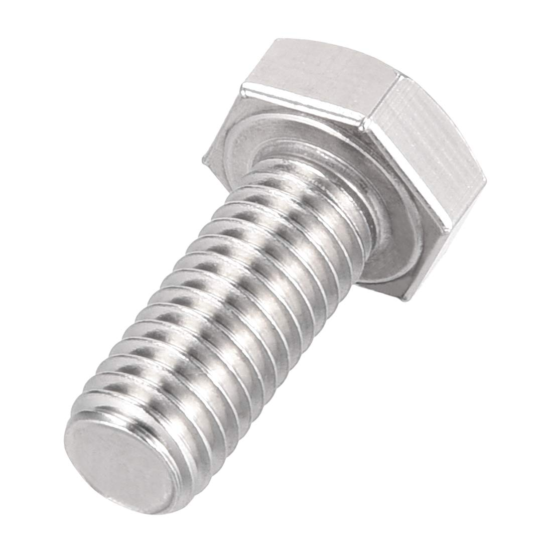 uxcell M8 Thread 50mm 304 Stainless Steel Hex Left Hand Screw Bolts Fastener