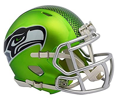 Seattle Seahawks Riddell Speed Mini Helmet - Blaze Alternate