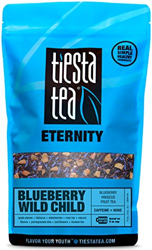 Tiesta Tea Blueberry Wild Child Blueberry Hibiscus Fruit Tea, 200 Servings, 1 Pound Bag - Caffeine Free, Loose Leaf Herbal Tea Eternity Blend, - Tea Bags Leaf Blueberry