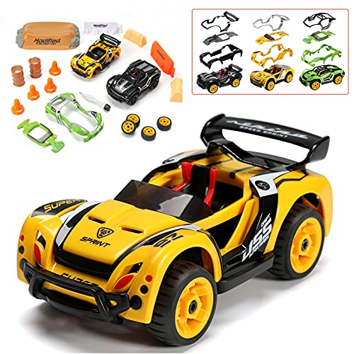 Take Apart Racing Car Toys Pull Back Car Creative STEM Car Toy Play Sets 32 Parts DIY Car Assembly Tool Kit Build Your Own Car Mechanic Gifts Toy Vehicle for Kids Boys & Girls Aged 3+