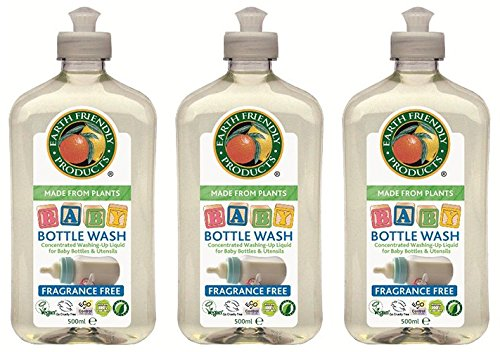 (3 PACK) - Earth Friendly Products - Baby Bottle Wash | 500ml | 3 PACK BUNDLE