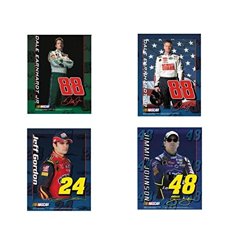 4pc 17x22 NASCAR SPEED POSTER SET dale earnhardt jr jeff gordon jimmie johnson - Jimmie Johnson Set