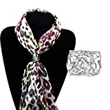 Milopon Scarf Buckle Scarf Rings Hollow Rose Scarf Rings Scarf Clips Scarf Clasp Scarf Decorations 2.6 * 2cm 2pcs