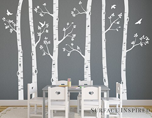 Large Birch Tree Wall Decals From Surface Inspired 6 Trees Included 1021 by Surface Inspired