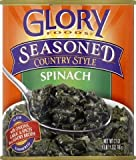 Glory Foods Seasoned Spinach 27 oz. Cans - Pack of 4