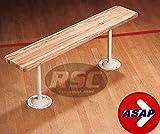 12'' Wide Wood Locker Room Bench With Gray Steel Pedestals - 72'' L x 12'' W x 17.5'' H