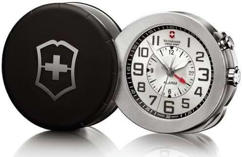 Victorinox Swiss Army 241461 Alarm 2010 Silver Dial Pocket Watch