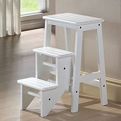 amazon com boraam 36324 folding step stool 24 inch white kitchen