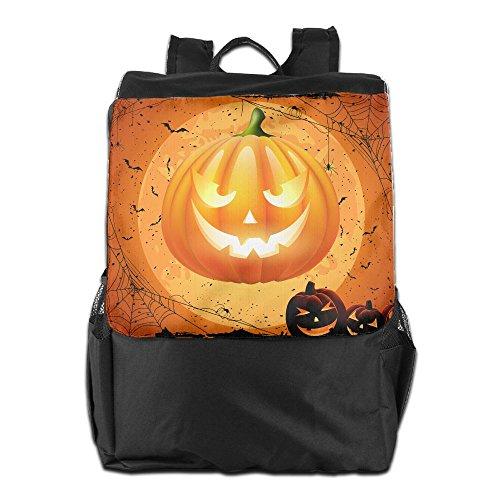 Cute Halloween Pumpkin Clipart (Vvw4 Halloween Pumpkin PNG Clipart Image Multipurpose Shoulders Bags Travel Outdoor Tablet Laptop Bag Backpack Hiking Daypacks For Men And Women)