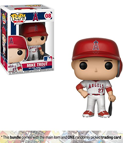 Funko Mike Trout [Los Angeles Angels]: x POP! MLB Vinyl Figure + 1 Official MLB Trading Card Bundle [#008 / 30217] by Funko