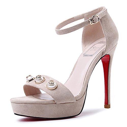 GAOLIM Sandalias De Verano Alta Heel Shoes Mujer Tacones Home Zapatos De Diario Profundidad y colorB