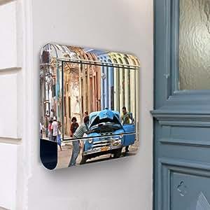 Buzón de acero inoxidable buzones 38 x 42 x 11 de Cuba banjado con diseño