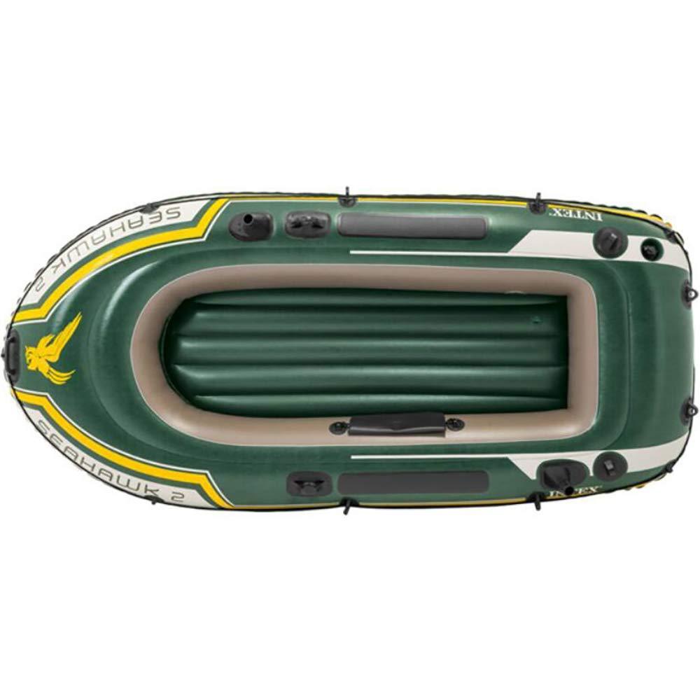 GYFY Bote Inflable de Dos Personas Respetuoso con el Medio Ambiente Barco de Remo de Caucho de PVC de la Red Espesada con Bomba de Remo