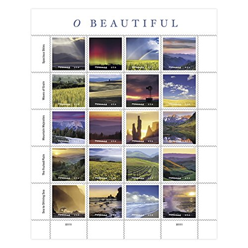 USPS Forever Stamps O Beautiful 5 Sheets of 20 Stamps
