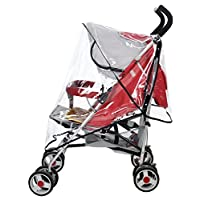 Tojwi Universal Clear Waterproof Rain Cover Wind Shield Fit Most Strollers Pu...