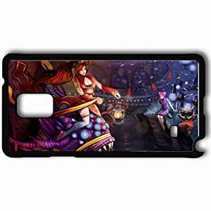 Personalized Samsung Note 4 Cell phone Case/Cover Skin Art Girls Monster Snake On Horseback River Black