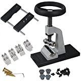 MOPHOTO Bench Watch Opener, 5700 Watch Back Case Opener Watch Repair Tool Kit with 12 Chucks for Rotating to Press and Remove Watch Case