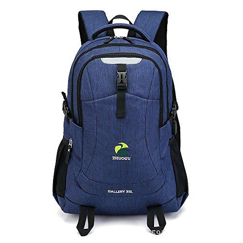MOGUU Laptop Rucksack Business Travel Schule Universität Tasche Wasserdichte Rucksack Mehrere Fach Usb Jack Rucksack, Blau Backpacks blue