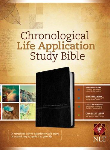 NLT Chronological Life Application Study Bible, TuTone (LeatherLike, Black/Onyx)