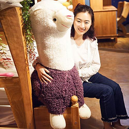BAONZEN Liebe Tier Tier Einhorn Puppe Puppe Puppe Alpaka Plüschtier Schlafkissen lustig, Rosa rot, 65cm 1.1m lila