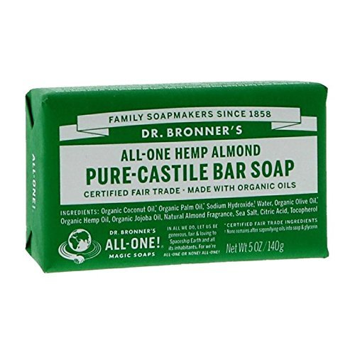 Dr. Bronner's Magic Soaps: Pure Castile Bar Soap, Almond 5 oz (12 pack) by Dr. Bronner's