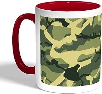 Army clothing Printed Coffee Mug, Red Color (Ceramic)