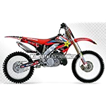 MX Decals Custom Graphics Kit, Waterproof Sunproof , Bright Red Background, 2000 2001 Honda CR125 CR250 available