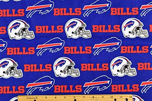 Buffalo Bills Fabric NFL Football Fabric in Blue 58