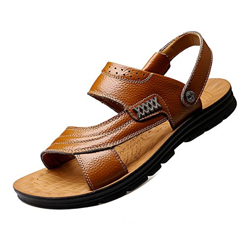 81d03efac2b4 Men s Leather Sandals Summer Outdoor Fisherman Breathable Sport Beach  Sandals