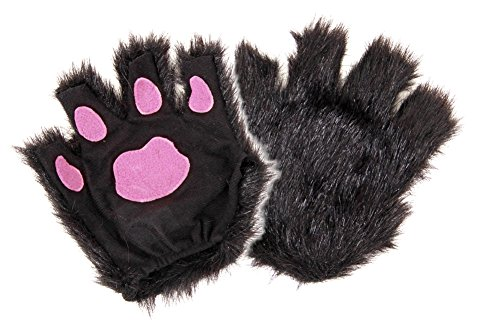 elope Fingerless Costume Cat Paws for Adults Kids