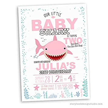 Image Unavailable Not Available For Color Pink Baby Shark Birthday Party