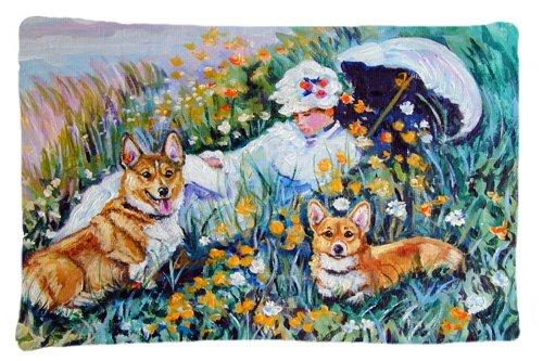 Multicolor Large Carolines Treasures 7324PILLOWCASE Corgi Classics Fabric Standard Pillowcase
