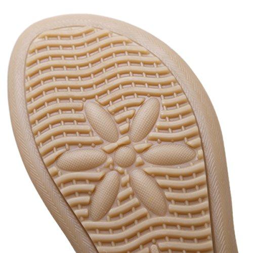 VFDB Women's Thong Flat Sandals T-Strap Summer Bohemian Rhinestone Slingback Beach Flip Flops Shoes Black US 7.5 by VFDB (Image #4)