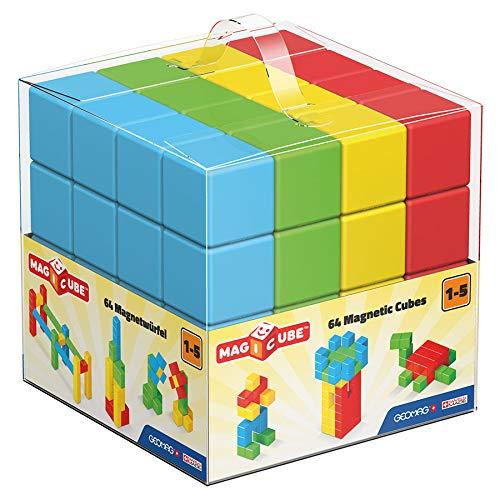 Geomag Magicube Preschool 64 Piece Monochromatic Free Building Set