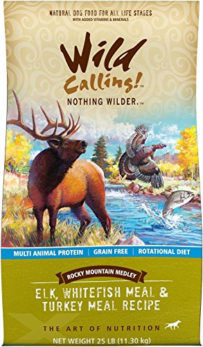 Wild Calling Rocky Mountain Medley - Elk/Whitefish/Turkey Meal - 25 lb
