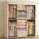 Generic Reinforced Portable Clothes Closet Wardrobe Armoires Storage Rack Organizer New