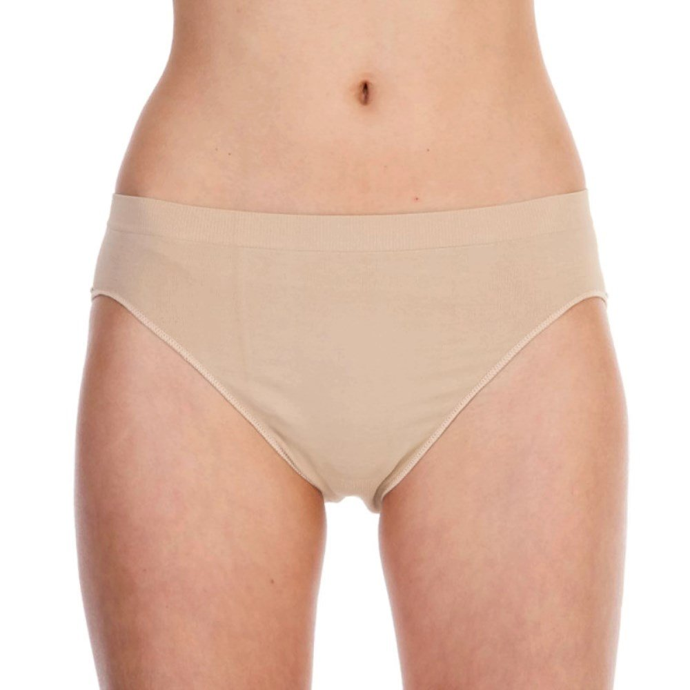 SILKY GIRLS DANCE Seamless Ballet High Cut Briefs Underwear Knickers Nude Flesh