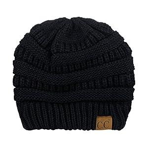 CC-Unisex-Chunky-Soft-Stretch-Cable-Knit-Warm-Fuzzy-Lined-Skully-Beanie