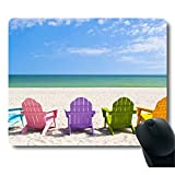 Adirondack Beach Chairs on a Sun Beach Holiday Vacation Travel House Customized Mouse Pad