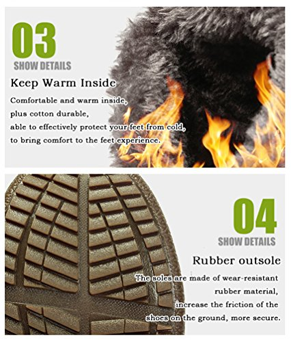Winte Darkblue Lined Water Fur Women Boots Boots Fully Men Snow Slip Anti Hiking Resistant Outdoor Boots Snow wanATqPX