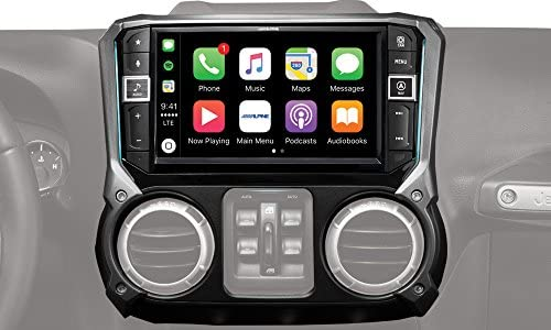 Alpine Electronics i209-WRA Mech-Less Restyle Dash System with Apple CarPlay Android Auto for Jeep Wranglers, 9 2011-2017
