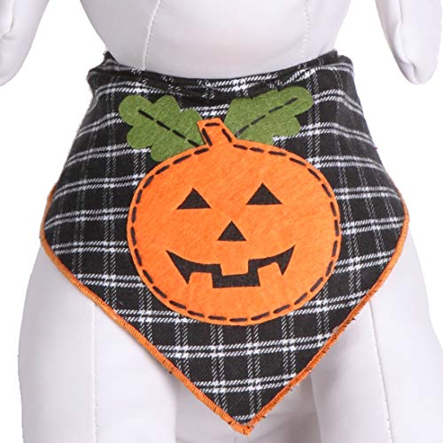 Tail Trends Halloween Dog Bandanas with Pumpkin Design - 100% Cotton…