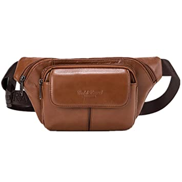 1906cca4bcc Mens Leather Waist Packs Bag Large Fanny Pack Genuine Leather Hip Bum Bag  Tactical Bags Packs Organizer Cell Phone Pouch for Outdoors Hiking  Traveling ...