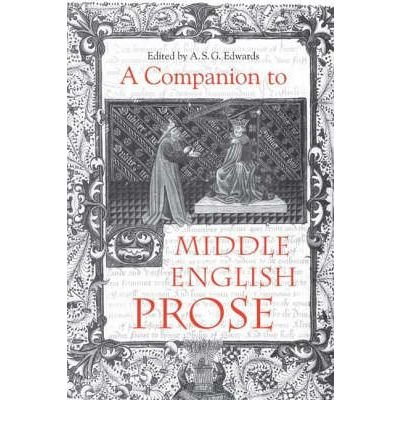 Read Online A Companion to Middle English Prose(Hardback) - 2004 Edition ebook