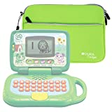 Lime Green Water Resistant Neoprene Case / Cover for the LeapFrog My Own Leaptop - by DURAGADGET