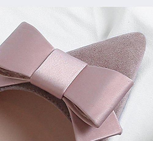 Pink Pour Bas à Chaussures Peu Profondes Talons Femmes MUYII Wxq8SPvnq