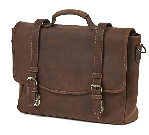 Claire Chase Rustic Laptop Messenger Bag, Rustic Brown, One Size by ClaireChase