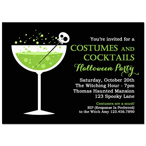 Halloween Party Invitation - Halloween Invitation - Costumes and Cocktails Halloween Party Collection -