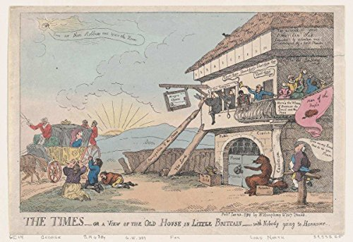 - Historic Fine Art Print | Thomas Rowlandson | The Times - Or A View of The Old House in Little Brittain - with Nobody Going to Hannover | Vintage Wall Art Décor Poster Reproduction | 11in x 14in